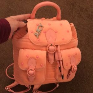 JUICY COUTURE PINK PLUSH VELOUR BACK PACK - NEW!